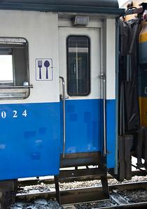 Night train from Chiang Mai to Bangkok.