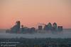 Calgary in the morning fog of early fall