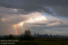 August - The incredible skies of Alberta as seen from Nosehill - downtown Calgaryis seen at the bottom