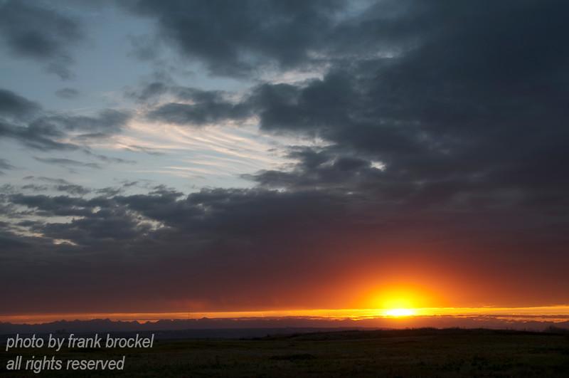 October - Sunset on Nosehill