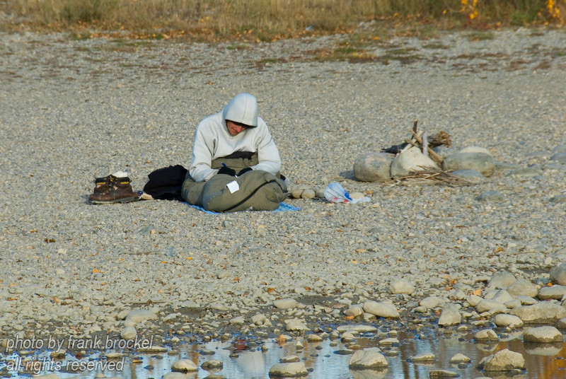 October - I found this homeless guy camped out at the pond on Nosehill.