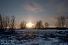 December - A winter sunset on Nose Hill