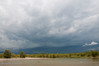 July - This one approaching from the west, was a very bad storm.  It hit with walnut sized hail flattening everything in it's path.