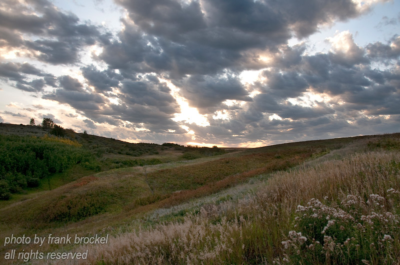 September - Evening is coming to the hill as fall starts in earnest.