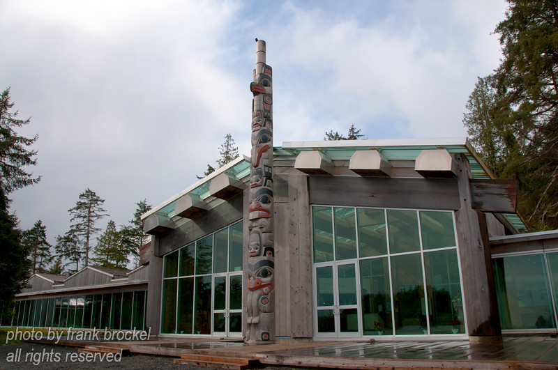 Haida Heritage Centre at Kaay Llnagaay is an award-winning Aboriginal cultural tourism attraction located in Haida Gwaii (Queen Charlotte Islands) on British Columbia's northwest coast.  It is a magnificent 53,000 square foot cedar multi-complex consisting of five contemporary monumental timber longhouses.