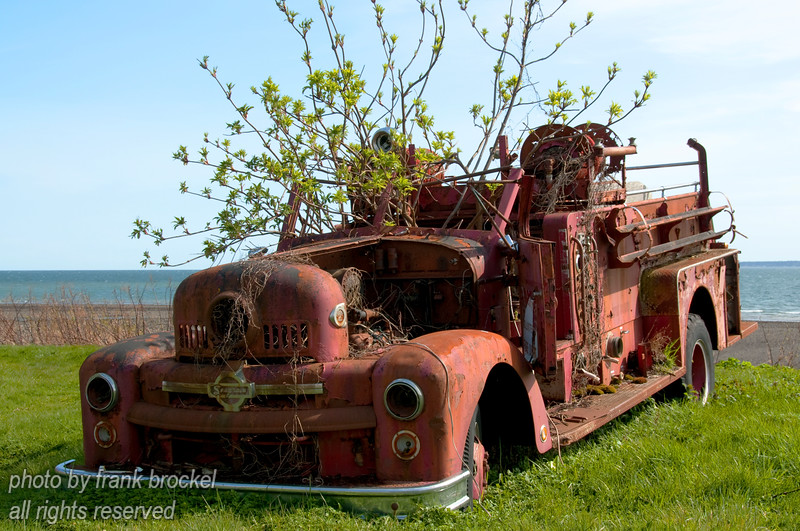 The Skidegate Volunteer fire department truck - this one needs a bit of detailing.