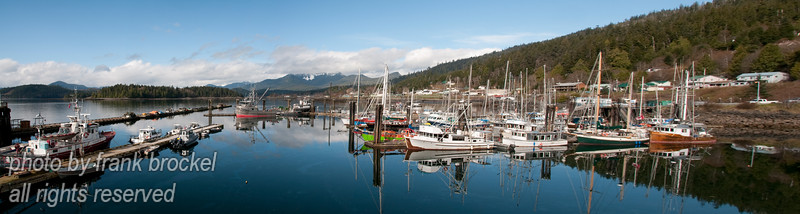 High resolution panorama of Queen Charlotte City harbour