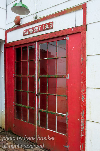 Doors and windows at the North Pacific Cannery near Port Edwards