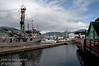 Prince Rupert harbour with a Canadian Fisheries vessel on the left