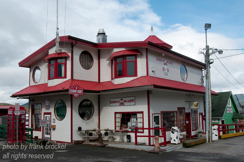 The Cow Bay cafe at the Prince Rupert harbour