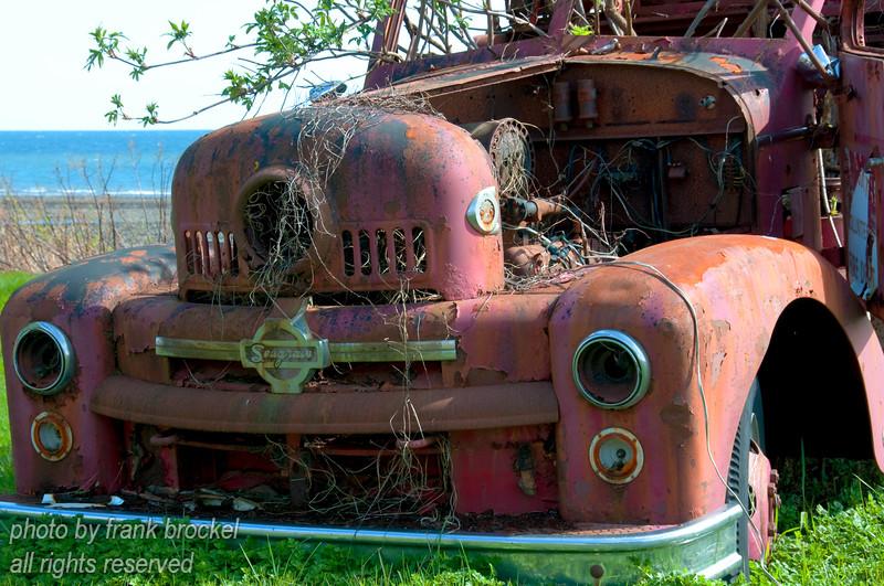 The Skidegate Volunteer fire department truck (retired)