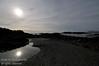 A silhouette shot of Wickaninnish south beach on the west coast of Vancouver Island