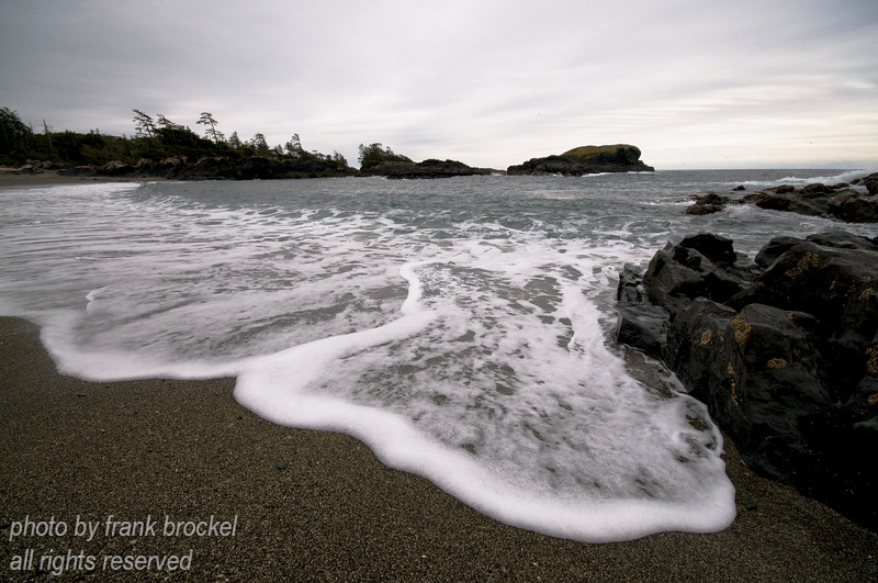 Evening setting in at Wickaninnish south beach on the west coast of Vancouver Island