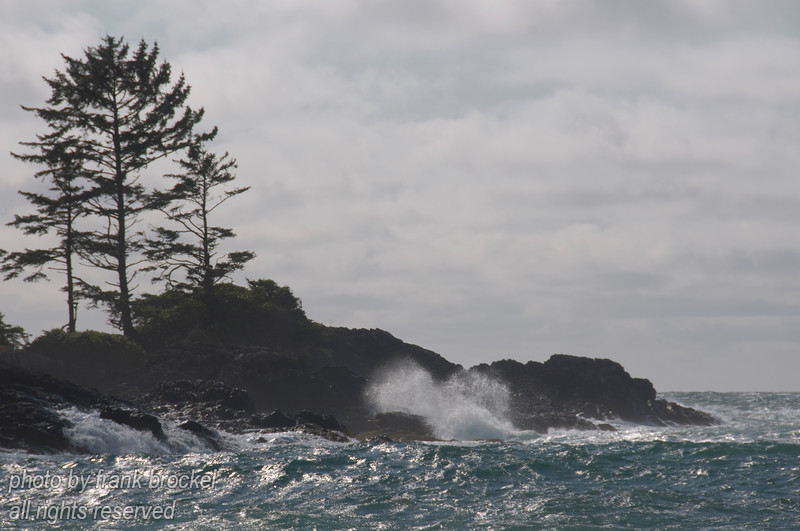 A storm is pounding the coast at Wickaninnish south beach on the west coast of Vancouver Island