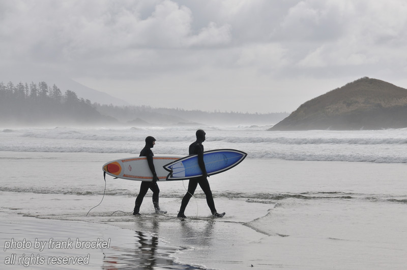 Heading into the surf
