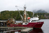 The fishing boat Tenacious in the harbour at Ucluelet