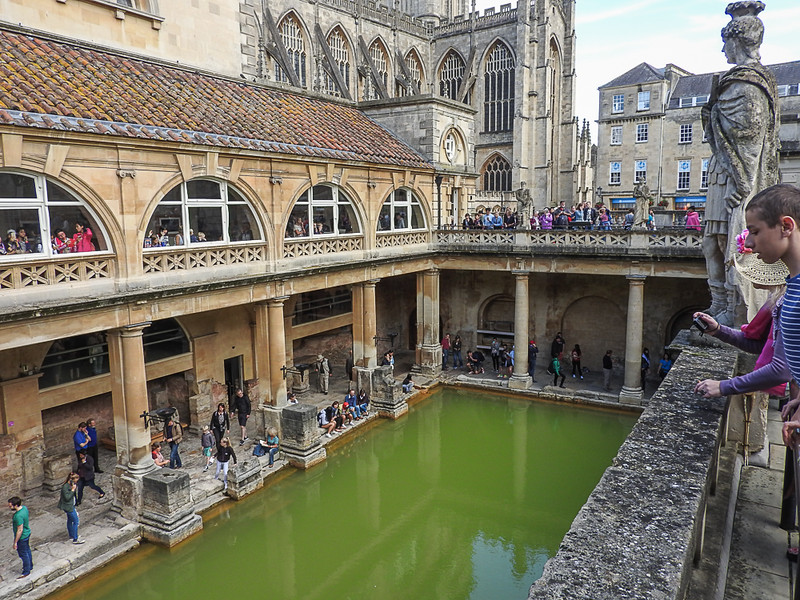 The Roman Baths in Bath England.