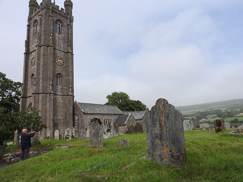 St. Pancras church in Widecombe in the Moor, a small town in Dartmoor National Park