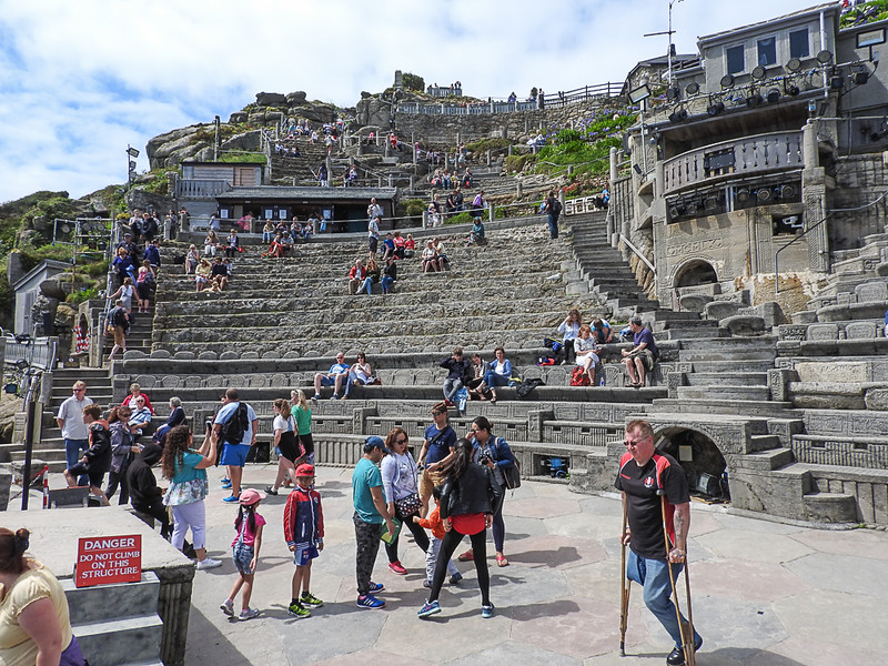 Minack Theater from the stage.