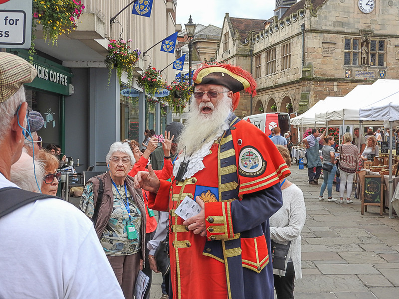 The Town Crier of Shrewsbury, Wales