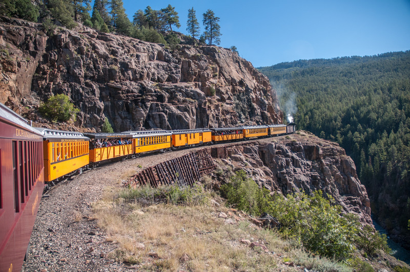 The train route runs along a very scenic and remote river.