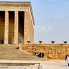 One corner of Ataturk's mausoleum.