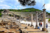 Ephesus was eventually completely abandoned in the 15th century and lost her former glory. Nearby Ayasuluğ was renamed Selçuk in 1914.<br /> <br /> Built into the slope of Panayır Dağı, this is the Roman reconstruction (41-117 AD) of the earlier theater built by Lysimachus. Though huge, with 25,000 seats, its ingenious engineering gives it excellent acoustics.