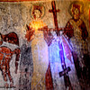 Photo is from Yilanli (Snake) Church. The blue light is from my flashlight with a blue bulb.