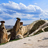 "In Alberta, Canada; North dakota and Wyoming, USA, people call these shaped rocks ""Hoo-Doos"". Here in Cappadocia they call it ""Fairy Chimneys""."