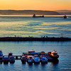 Sunset at the Dardanelles.