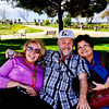 Cathy, Patrick and Beth resting in an area between the Travertines and the Museum.