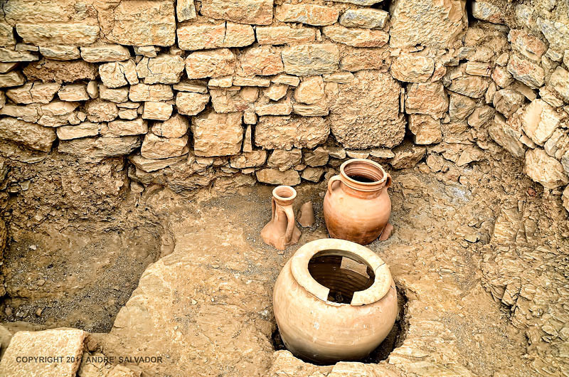 THESE EARTHEN WARE WERE PRESERVED BECAUSE SILT FROM THE MOUNTAIN FILLED UP THE HOUSES PROTECTING WALLS AND ARTIFACTS INSIDE.