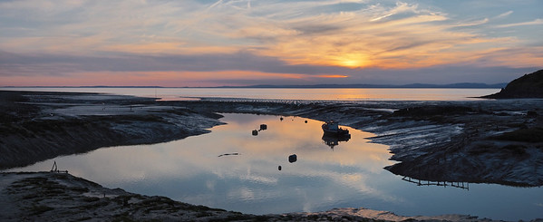 Sunset over Clevedon harbour