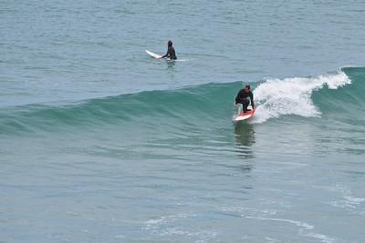 Trevaunance Cove surfers