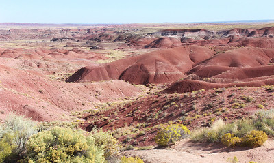 First view of the Painted Desert, from Tiponi Point on the loop road.