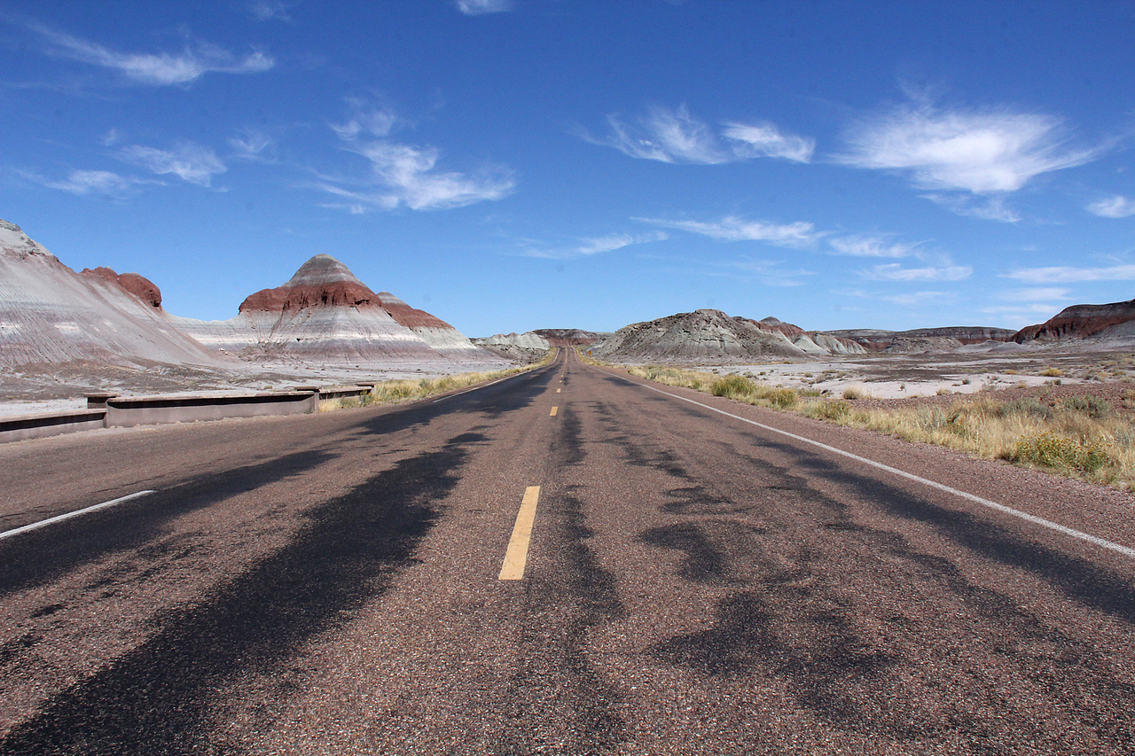 The park road next to The Tepees.  We had the place mostly to ourselves all day!