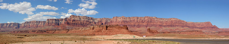 An 8-image panorama of the eastern slope of the Vermillion Cliffs.