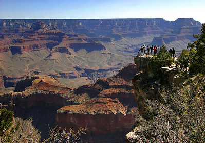 Mather Point, near the south rim village, is usually the first view of the Canyon most visitors get.