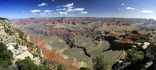 Mather Point panorama.  5 vertical images stitched together, side by side.