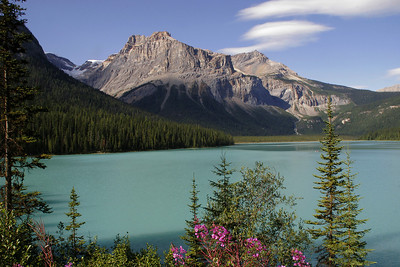Emerald Lake.  The color of the water in many lakes is due to glacial silt.