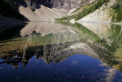 Lake Agnes reflections.