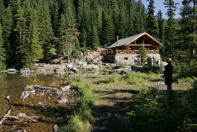 The Lake Agnes Teahouse where hikers can get tea and cakes.