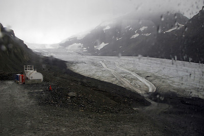 On our 3rd try, we went on the Glacier tour in the rain.