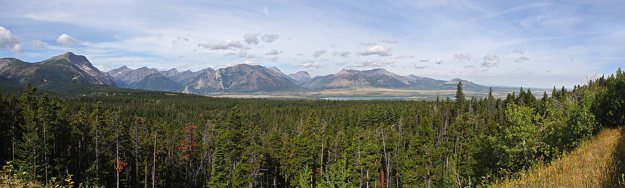 The view into the Waterton Valley from near the border crossing.