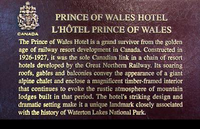 Hotel plaque.