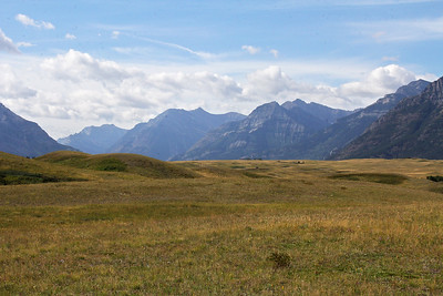 In the prairie area that is at the north end of Waterton Valley, looking south.