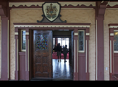 The entry door to the Prince of Wales.