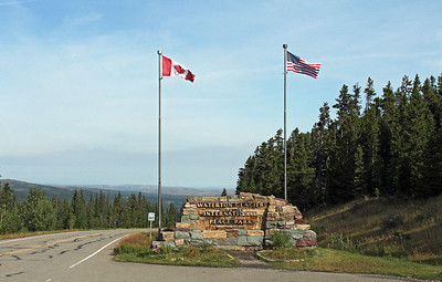 Arrival at the US-Canadian border.