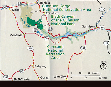 Black Canyon of the Gunnison is a large National Park, a bit off the beaten path in south central Colorado.