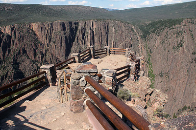 This is Gunnison Overlook which is situated just below the visitor center.